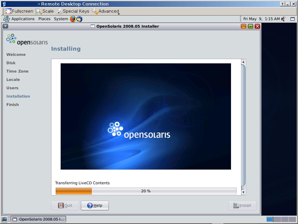 Installing OpenSolaris 2008 05 domU on Debian Linux Xen dom0